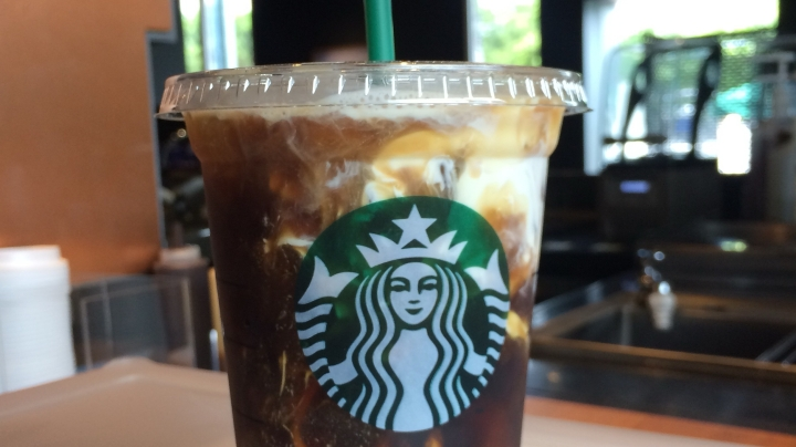 Alderina Iced Coffee with Liquid Whipped Cream Starbucks Alderina